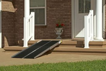 A Wheelchair Ramp Is An Inclined Plane Installed In Addition To Or Instead  Of Stairs. Ramps Permit Wheelchair And Scooter Users Easier Access Into A  ...